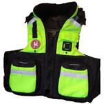 First Watch AV-800 Pro 4-Pocket Vest (USCG Type III) - Hi-Vis Yellow\/Black - S\/M