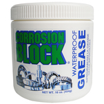 Corrosion Block High Performance Waterproof Grease - 16oz Tub - Non-Hazmat, Non-Flammable  Non-Toxic