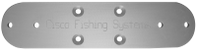 Cisco Cross Plates: Cisco Fishing Systems Double Rod Holder Cross-Plate