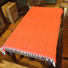 Mexican Blanket Solid Color Orange 2.75 lb Weight