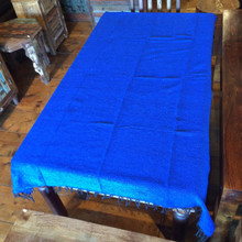 Mexican Blanket Solid Color Blue 2.75 lb Weight