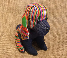 Hmong Cloth Handmade Stuffed Dog from Vietnam