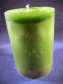 "Handmade Green Tea Scented 3"" Dia. By 4"" Tall Candle"
