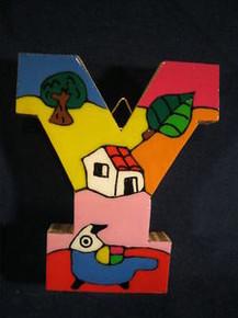 Handmade the Letter Y from La Palma, El Salvador
