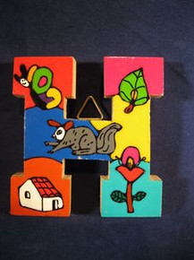 Handmade the Letter I from La Palma, El Salvador