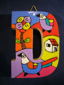 Handmade the Letter D from La Palma, El Salvador