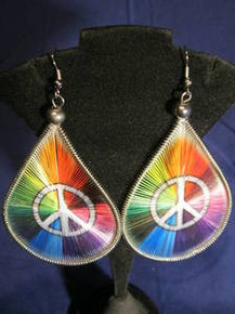 Handmade Peace Sign Earrings