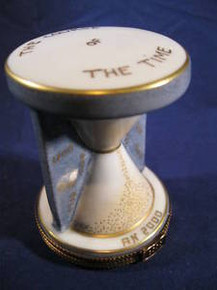 Limoges  Box from France of Hourglass from 2000