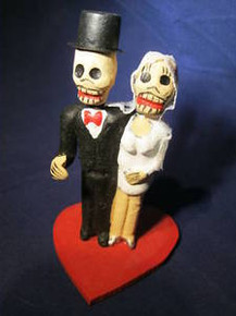 Day of the Dead Wedding Couple Handmade in Mexico