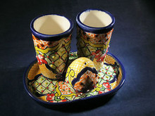 Tequila Shot Glass Set Handmade of Talavera Pottery in Guanajuato, Mexico #2