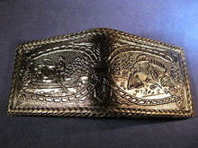 Leather Wallet Hand Made and Tooled from Mexico Item WM4
