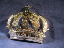 Large Belt Buckle Silver Plated Crown Shape from Mexico