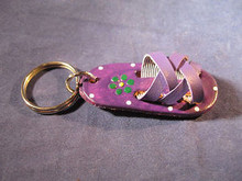 Key Chain Hand Made of Leather in the Shape of a Huarache/Sandal from Mexico I