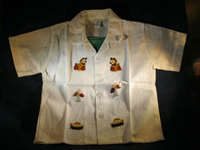 Children's Shorts & Top Set Hand Embroidered from La Palma, El Salvador  Size 2