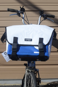 UPSO Ferrybridge Folder - For Brompton- White/Blue
