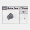 07-5350P7 Output Gear 10T (Black)