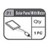 01-67200P1 Solar Panel With Motor