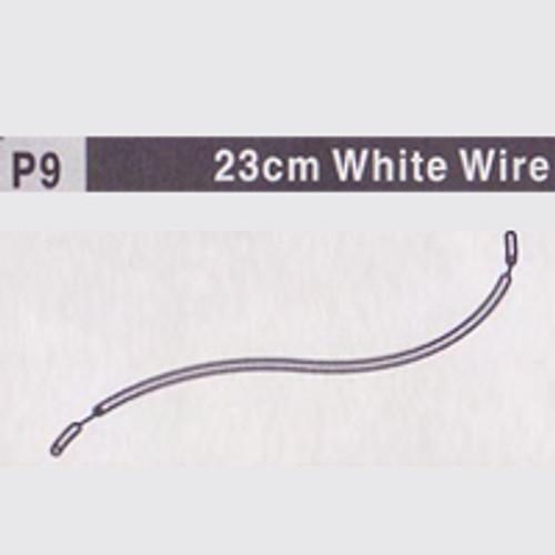 09-610009(P9) 23CM WHITE WIRE
