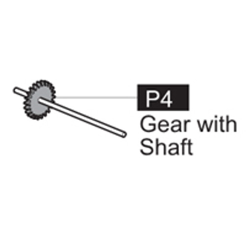 04- 6400P4 - GEAR WITH SHAFT