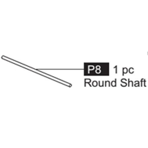 08- 64100P8 Round Shaft (long)