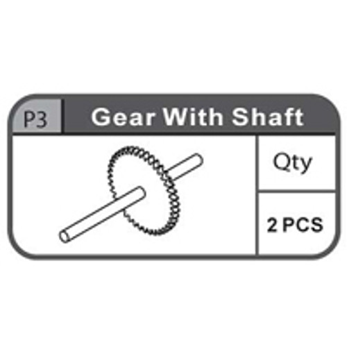 03- 66900P3 GEAR With SHAFT