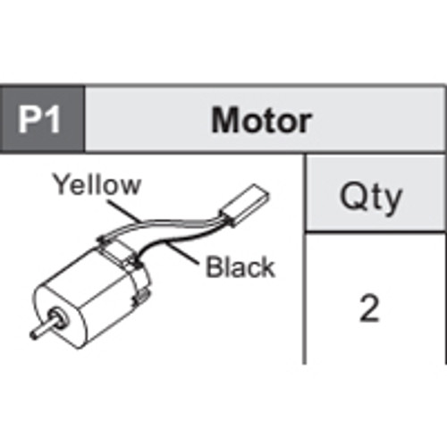 07-5360P1 Motor (Yellow/Black)