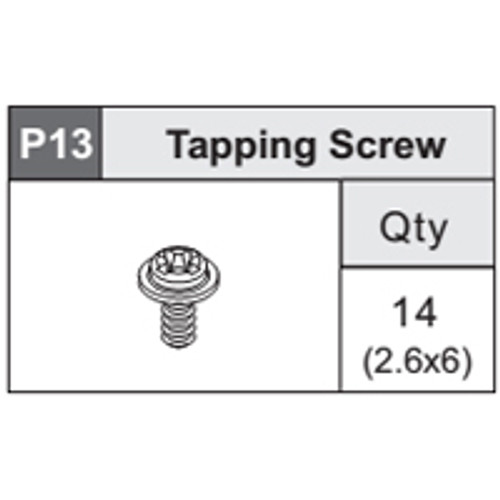 19-5360P13 Tapping Screw (2.6x6)