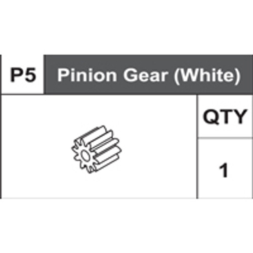 05-75400P5  Pinion Gear (White)