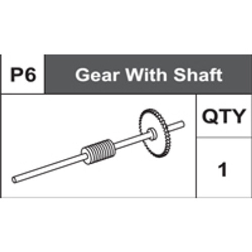 06-75400P6  Gear With Shaft