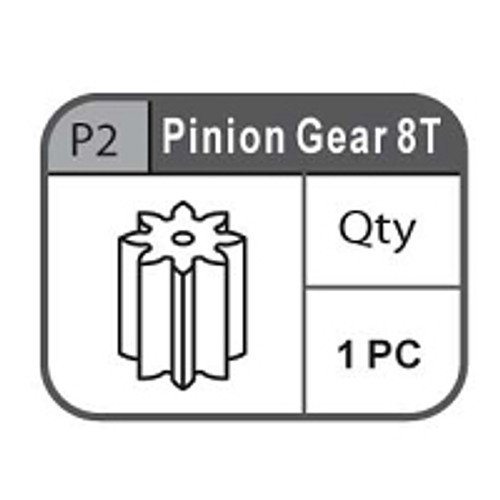 02- 67100P2  PINION GEAR 8T