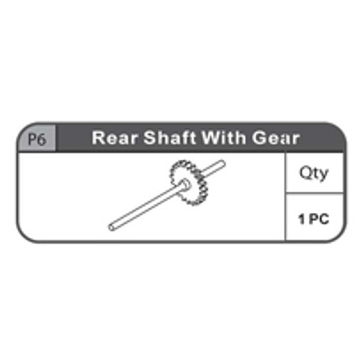 06- 67100P6  REAR SHAFT WITH GEAR