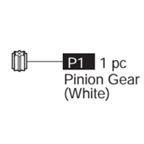 01-69100P1 Pinion Gear (White)