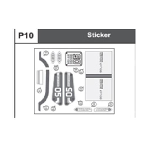 10-68400P10 Sticker