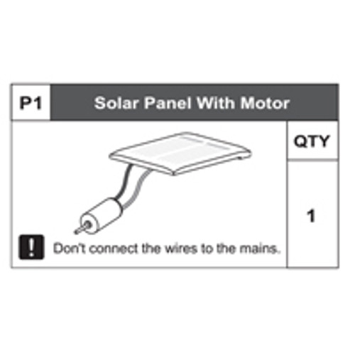 0168200P1 Solar Panel With Motor