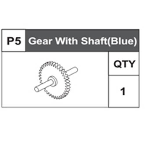 05-68200P5 Gear With Shaft (Blue)