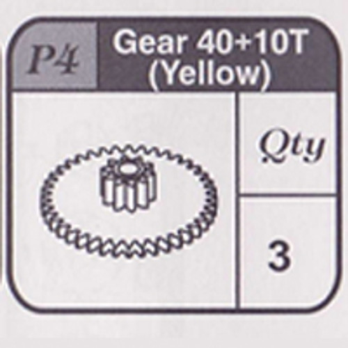 04-67900P4 Gear 40+10T (Yellow)