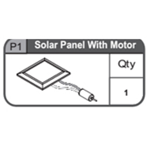01-67400P1  Solar Panel With Motor