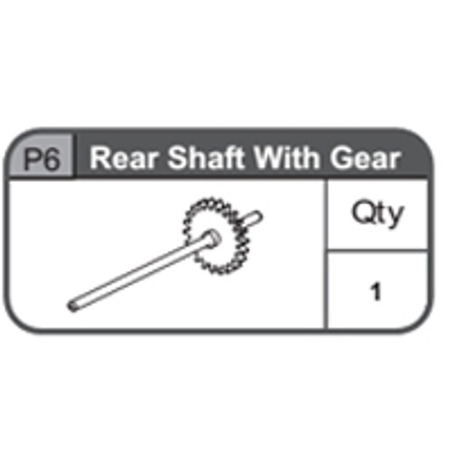 06-67400P6 Rear Shaft With Gear