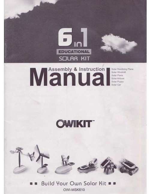 6 in 1 Educational Solar Kit Manual