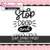 Stop, Drop, Pray Digital Stamp