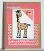 Heart Spotted Giraffe Digital Stamp