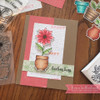Pretty Potted Florals Clear Stamp Set