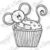 Cupcake Cocoa Digital Stamp