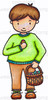 Evan's Easter Basket Colored Digital Stamp