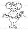 Melanie Mouse Digital Stamp
