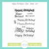 Happy Birthdays Clear Stamp Set