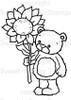 Rhubarb's Sunflower Digital Stamp