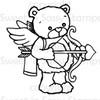 Cupid Rhubarb Digital Stamp