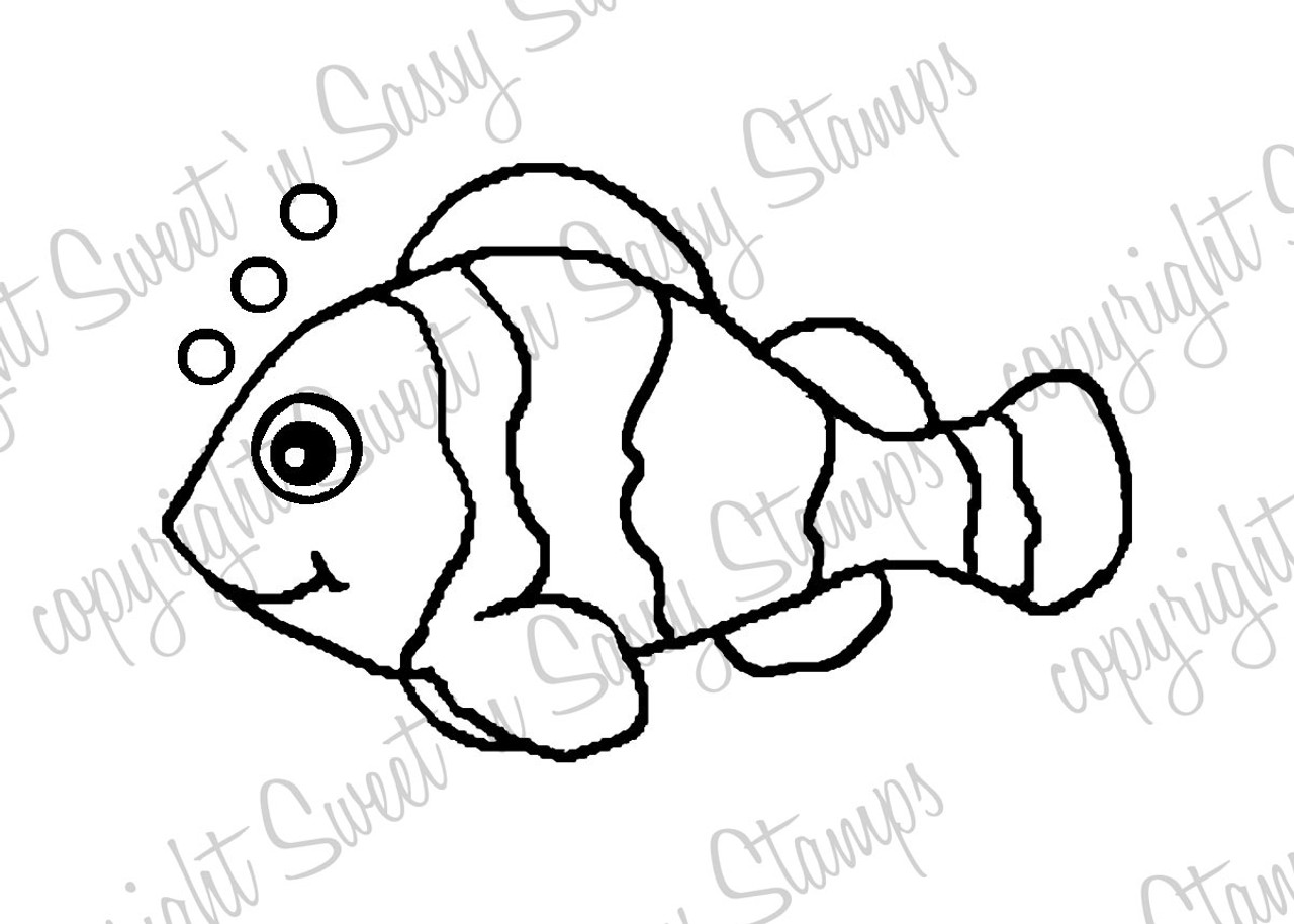 Cleo Clownfish Digital Stamp