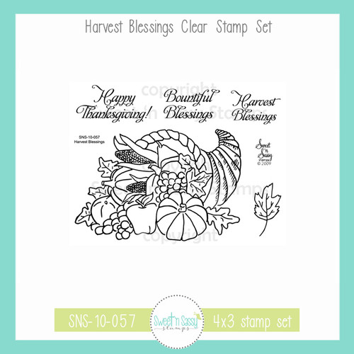 Harvest Blessings Clear Stamp Set